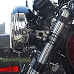 ライトステー シルバー SR400/500 ノーマルフォーク用(35mm)